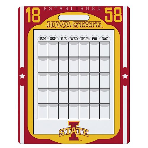 Iowa State Cyclones Dry Erase Calendar