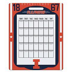 Illinois Fighting Illini Dry Erase Calendar