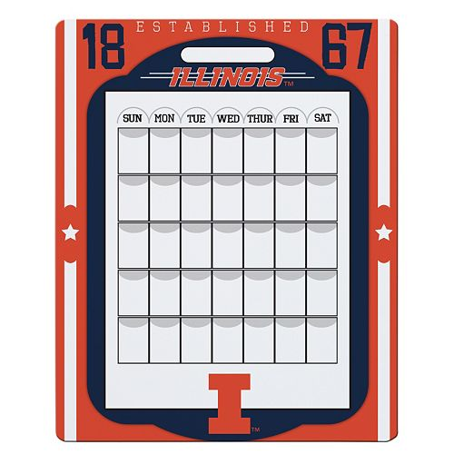 Illinois Fighting Illini Dry Erase Calendar