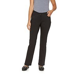 Petite Dana Buchman Millennium Slim Straight-Leg Dress Pants