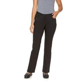 Petite Dana Buchman Millennium Slim Straight-Leg Dress Pants