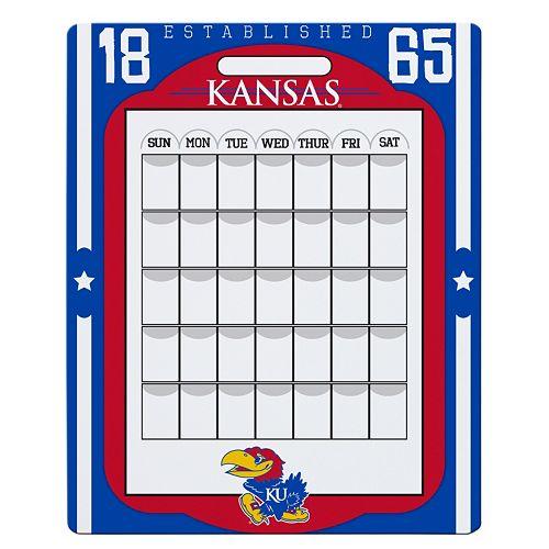 Kansas Jayhawks Dry Erase Calendar