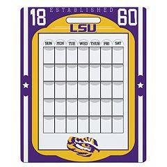 LSU Tigers Dry Erase Calendar