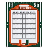 Miami Hurricanes Dry Erase Calendar
