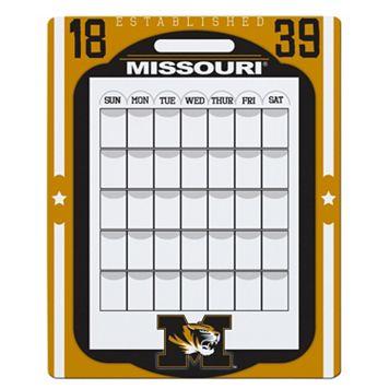 Missouri Tigers Dry Erase Calendar