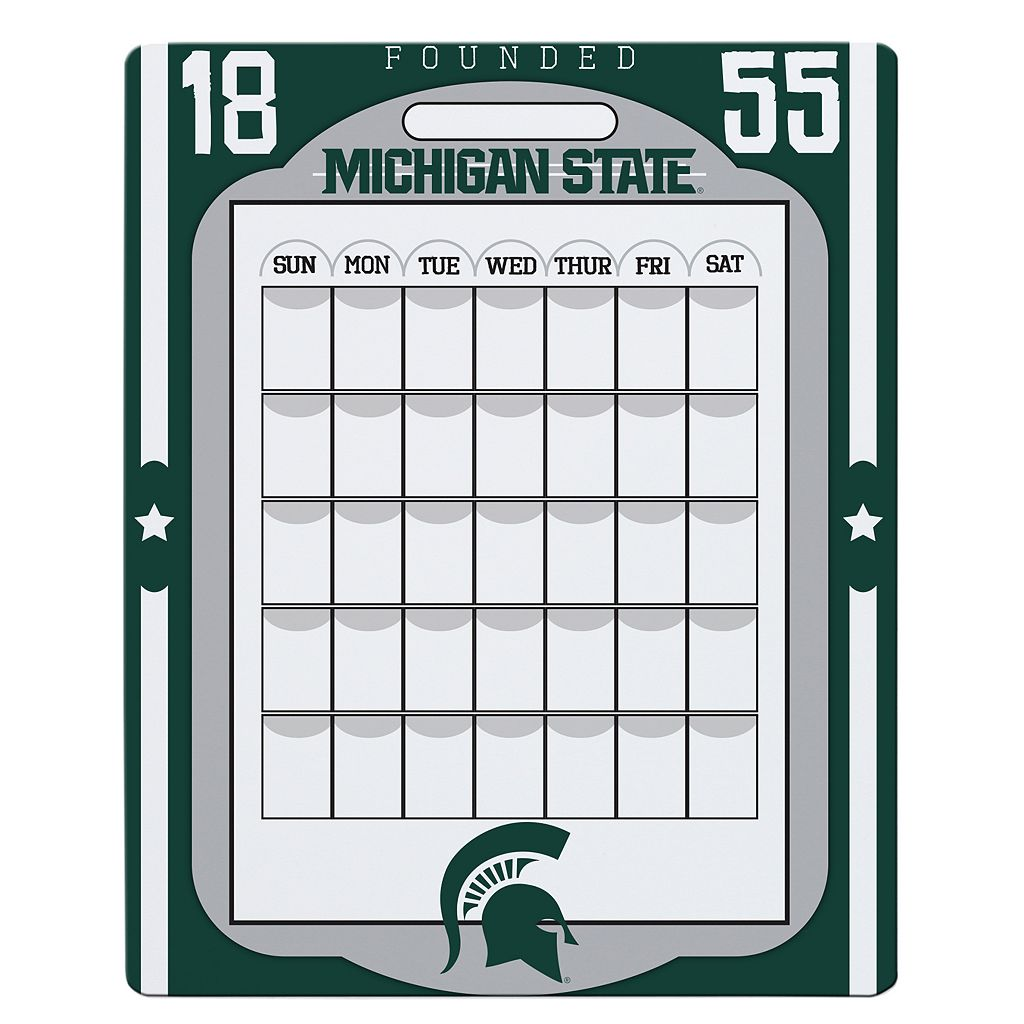 Michigan State Spartans Dry Erase Calendar