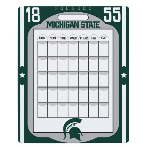 Michigan State Spartans Dry Erase Calendar