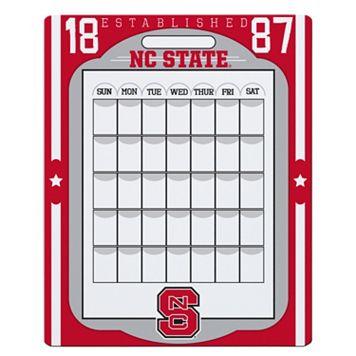 North Carolina State Wolfpack Dry Erase Calendar
