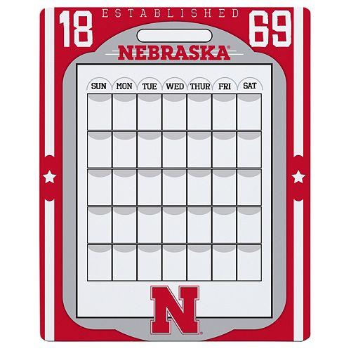 Nebraska Cornhuskers Dry Erase Calendar
