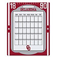 Oklahoma Sooners Dry Erase Calendar