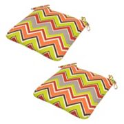 Plantation Patterns Outdoor Seat Pad 2 pc Set