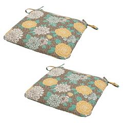 Plantation Patterns Outdoor Seat Pad 2-piece Set