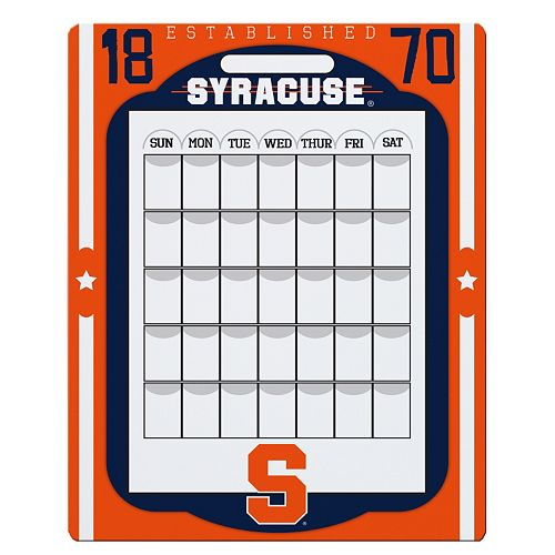 Syracuse Orange Dry Erase Calendar