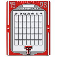 Texas Tech Red Raiders Dry Erase Calendar