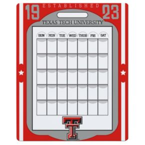 Texas Tech Red Raiders Dry Erase Calendar
