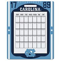 North Carolina Tar Heels Dry Erase Calendar