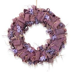 National Tree Company 16' Garden Accents Burlap Wreath