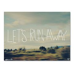 Trademark Fine Art 'Let's Run Away' Wilderness Canvas Wall Art