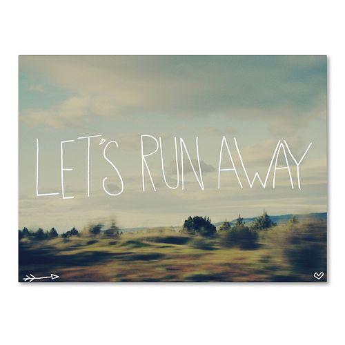 """Trademark Fine Art """"Let's Run Away"""" Wilderness Canvas Wall Art"""