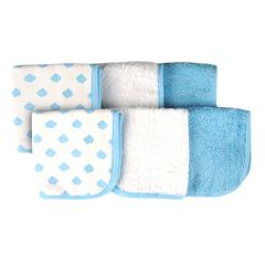 giggle Baby 6-pk. Print & Solid Washcloths by