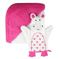 giggle Baby Hooded Towel and Bath Glove Set