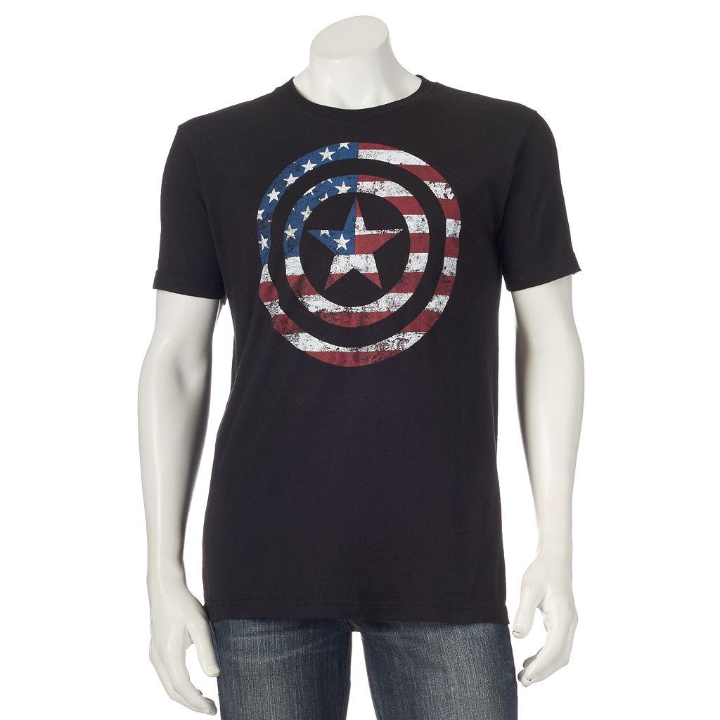 Men's Marvel Captain America Flag Shield Tee