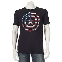 Men's Marvel Captain America Flag Shield Tee