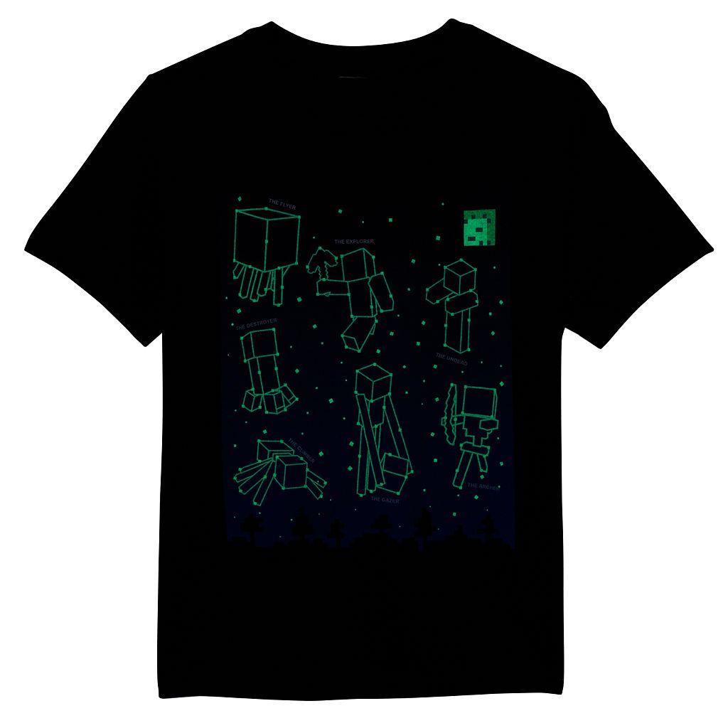 Boys 8-20 Minecraft Constellation Glow-in-the-Dark Tee