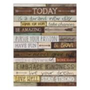 """Today"" Lifted Plaque Wall Art"