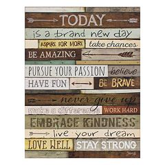 Today Lifted Plaque Wall Art