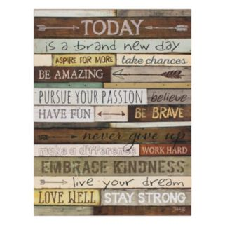 """""""Today"""" Lifted Plaque Wall Art"""