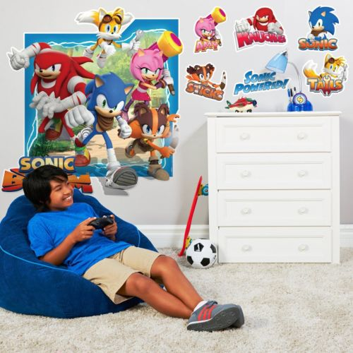 Sonic Boom Giant Wall Decals Set