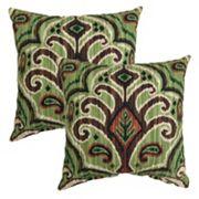 Plantation Patterns Outdoor Throw Pillow 2 pc Set