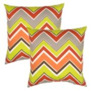 Plantation Patterns Outdoor Throw Pillow 2-piece Set