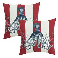Plantation Patterns Outdoor Throw Pillow 2 pc Set