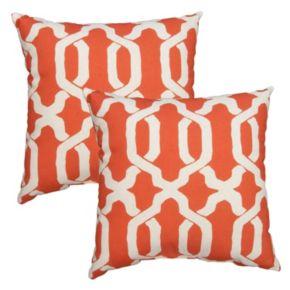 Plantation Patterns Ogee Throw Pillow 2-piece Set