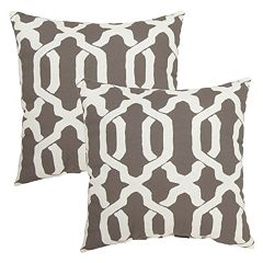 Plantation Patterns Ogee Throw Pillow 2-piece Set
