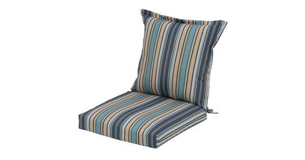Jsp Furniture: Plantation Patterns Outdoor Back Pillow Dining Chair 2