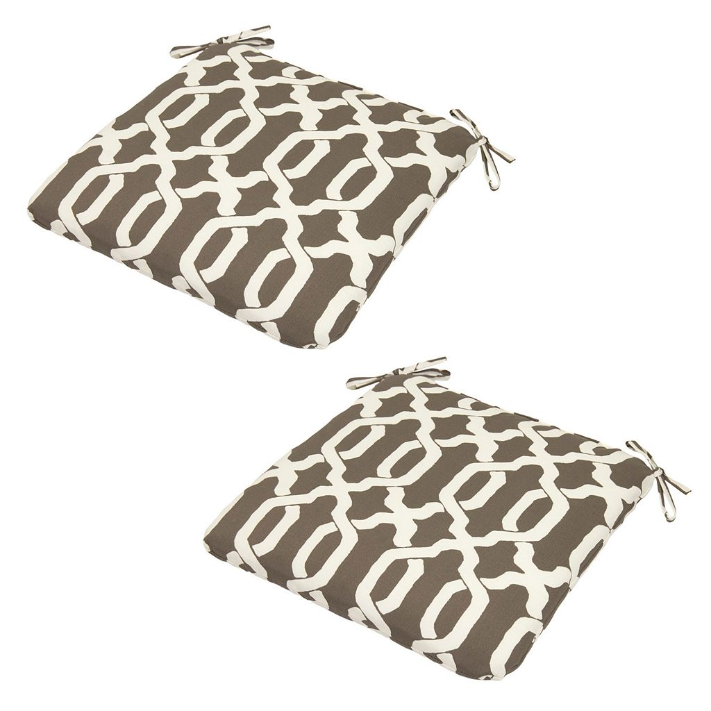 Plantation Patterns Espresso Texture Seat Pad 2-piece Set