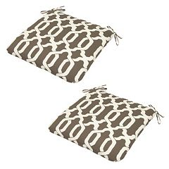 Plantation Patterns Espresso Texture Seat Pad 2 pc Set