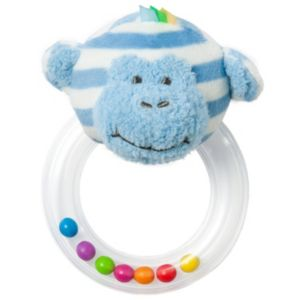 giggle Striped Animal Rattle