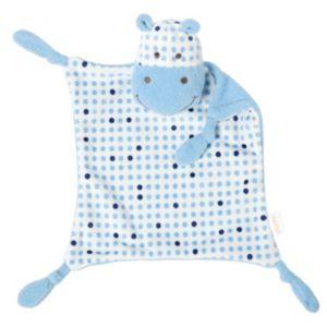 giggle Polka-Dot Hippo Blankie Baby Blanket