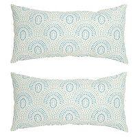 Plantation Patterns Outdoor Lumbar Throw Pillow 2-piece Set