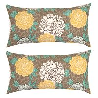 Plantation Patterns Outdoor Lumbar Throw Pillow 2 pc Set