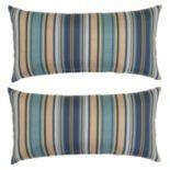 Plantation Patterns Outdoor Lumbar Throw Pillow 2 pc Set