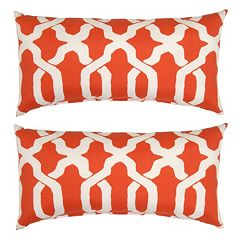 Plantation Patterns Ogee Lumbar Outdoor Throw Pillow 2 pc Set