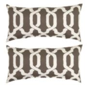 Plantation Patterns Ogee Lumbar Outdoor Throw Pillow 2-piece Set
