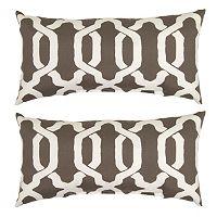Plantation Patterns Ogee Lumbar Outdoor Throw Pillow 2 pc Set