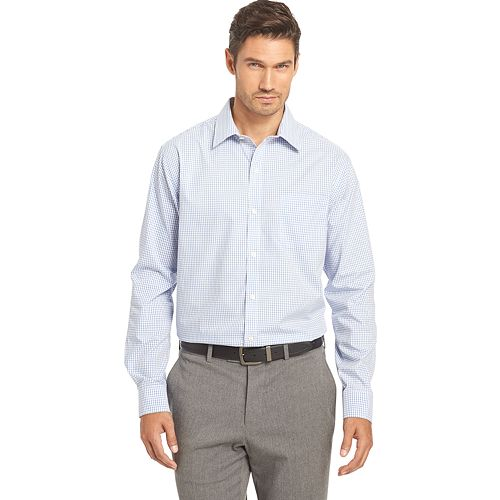9dd2a69158801 Men s Van Heusen Traveler Stretch Classic-Fit No-Iron Button-Down Shirt