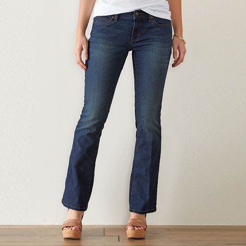 Women's SONOMA Goods for Life™ Curvy Fit Bootcut Jeans
